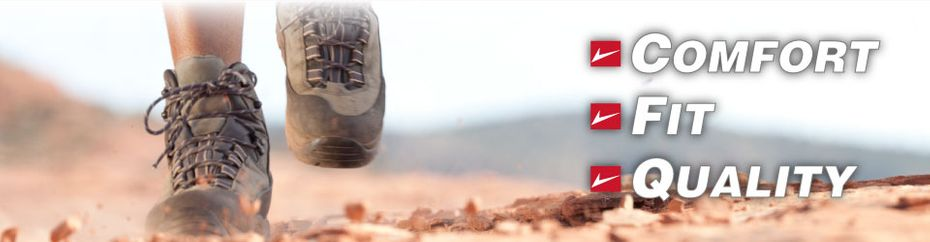 Comfort Fit Quality | running on dirt